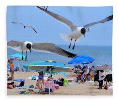 Beach Patrol Fleece Blanket