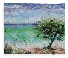 Beach Tree Fleece Blanket