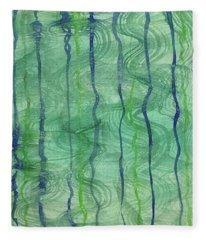Beach Water Lines Fleece Blanket