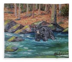 Bear Crossing Fleece Blanket