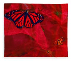 Beautiful And Fragile In Red Fleece Blanket