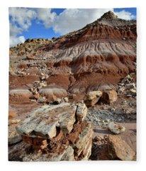 Beautiful Boulder And Dune In San Rafael Desert Fleece Blanket