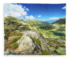 Beautiful Landscape Of Pirin Mountain Fleece Blanket
