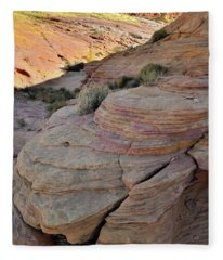 Beautiful Layers Of Color In Valley Of Fire Fleece Blanket