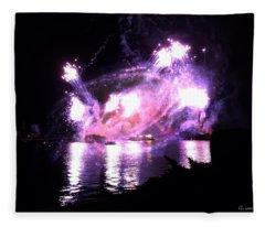 Beautiful Light Show Fleece Blanket