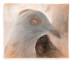 Beautiful Racing Pigeon Da Vinci Fleece Blanket
