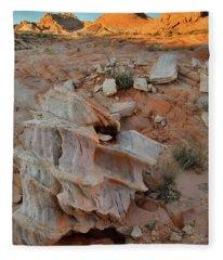 Beautiful Rock Form In Valley Of Fire Fleece Blanket