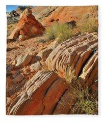 Beautiful Sandstone Cove In Valley Of Fire Fleece Blanket