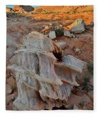 Beautiful Sandstone Formation In Valley Of Fire Fleece Blanket