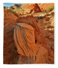 Beautiful Sandstone Forms In Valley Of Fire Cove Fleece Blanket