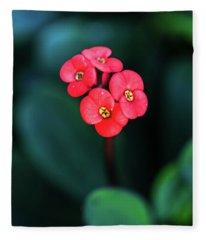 Beautiful Summer Flowers Fleece Blanket