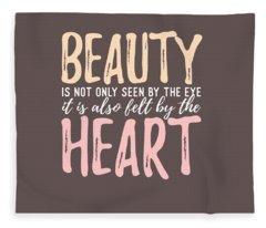 Beauty Heart Fleece Blanket