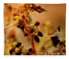 Beauty In Eye Of The Beholder Cocklebur  Fleece Blanket
