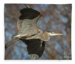 Beauty In Flight Fleece Blanket