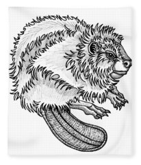 Beaver Fleece Blanket