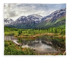 Beaver Pond, Eagle River Ak Fleece Blanket