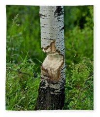 Beaver Work Fleece Blanket