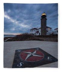 Beavertail Lighthouse Fleece Blanket