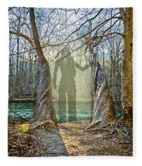 Behind The Shadows Fleece Blanket