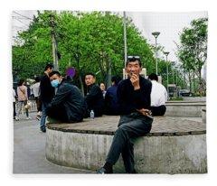 Beijing Street Fleece Blanket