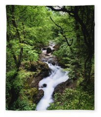 Bela River, Balkan Mountain Fleece Blanket