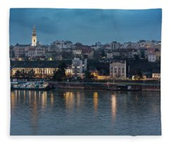 Belgrade Skyline And Sava River Fleece Blanket