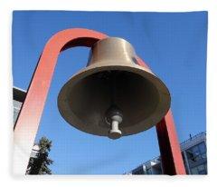 Bell At First Responder Plaza Fleece Blanket