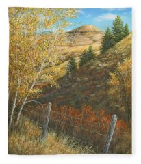 Belt Butte Autumn Fleece Blanket
