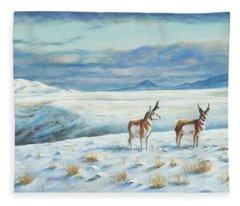 Belt Butte Winter Fleece Blanket