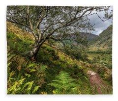 Beneath The Ben Nevis Mountain Fleece Blanket