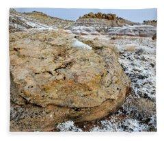 Bentonite Dunes Near Ruby Mountain Fleece Blanket