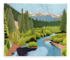 Berthoud Pass Fleece Blanket