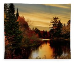 Betsy River Michigan Fleece Blanket
