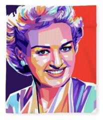 Betty Grable Pop Art Fleece Blanket