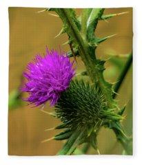 Between The Flower And The Thorn Fleece Blanket