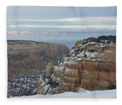Between The Rocks Fleece Blanket
