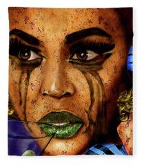 Beyonce Skin Shedding Fleece Blanket