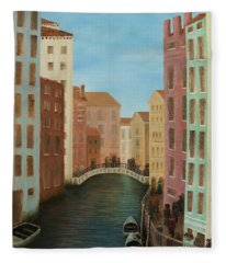 Beyond The Grand Canal Fleece Blanket
