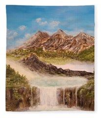 Beyond The Mountains Fleece Blanket