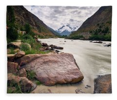 Fleece Blanket featuring the photograph Bhag River by Whitney Goodey