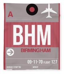 Bhm Birmingham Luggage Tag II Fleece Blanket