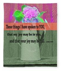 Bible Verses  Art 131 Fleece Blanket