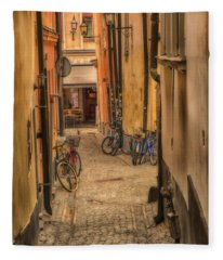 Bicycle Alley Fleece Blanket