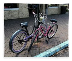 Bicycles City Park New Orleans Fleece Blanket