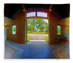 Big Barn Kentucky Horse Park 360 Fleece Blanket