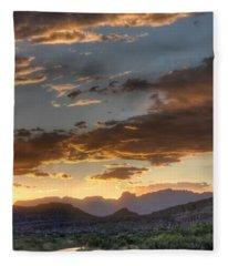 Big Bend Sunset Rio Grande Fleece Blanket