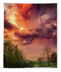 Big Sky Cades Cove Tennessee Fleece Blanket
