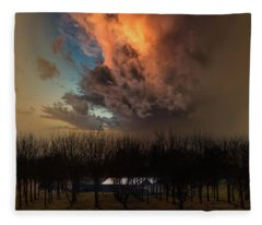 Big Sky Cranes Orchards Michigan Fleece Blanket