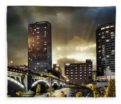 Big Sky Grand Rapids Night Fleece Blanket
