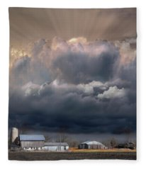 Big Sky Michigan Farmland Fleece Blanket